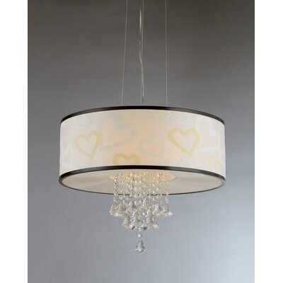 Hearts 5-Light Drum Chandelier