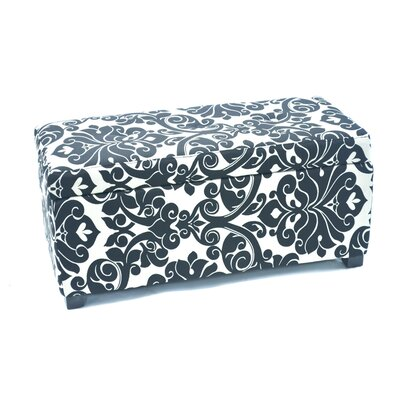Donahue Storage Ottoman with Button Upholstery: White Floral