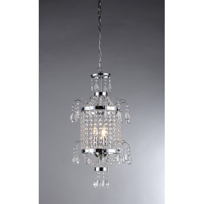 2-Light Crystal Chandelier