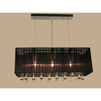 Bough 3-Light Kitchen Island Pendant Color: Black
