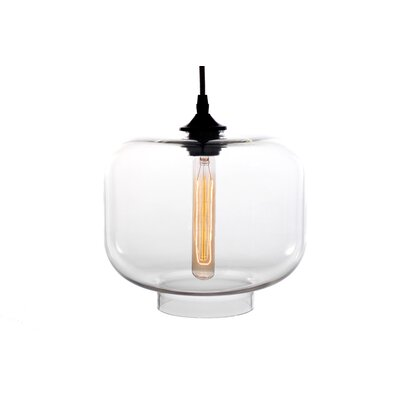 Xavier 1-Light Mini Pendant Shade Color: Clear
