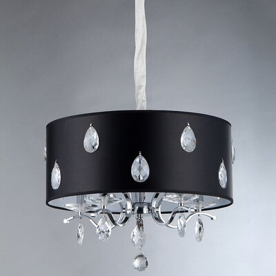 Tear Wheel 5-Light Drum Chandelier