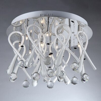 Ribbon Drops 10-Light Crystal Chandelier