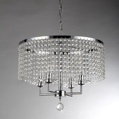 Dart 4-Light Crystal Chandelier