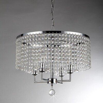 Dart 4-Light Crystal Chandelier