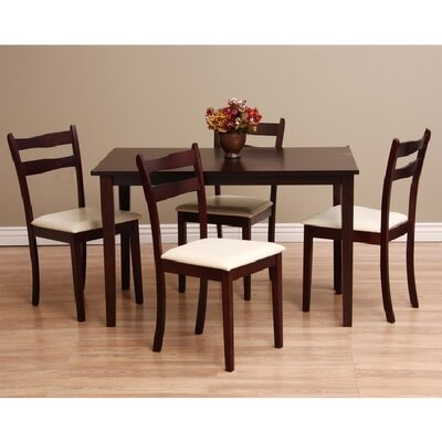 Callan 5 Piece Dining Set Chair Finish: Chalk