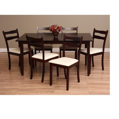 Callan 7 Piece Dining Set Chair Finish: Chalk