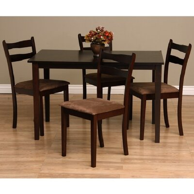 Callan 5 Piece Dining Set Chair Finish: Brown