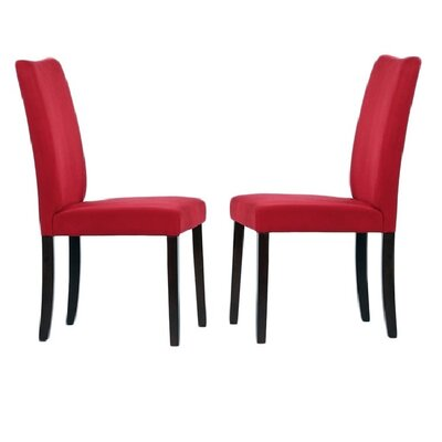 Tiffany Shino Parsons Chair Finish: Red
