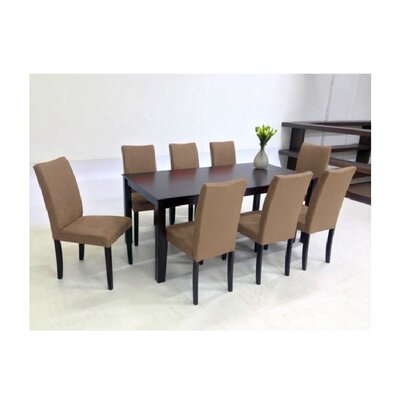 Juno 9 Piece Dining Set Chair Finish: Brown