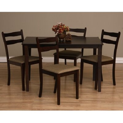 Callan 5 Piece Dining Set Chair Finish: Latte