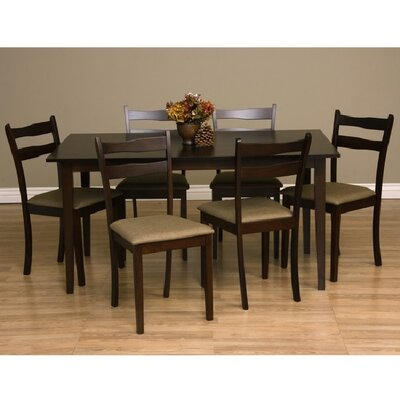 Callan 7 Piece Dining Set Chair Finish: Latte