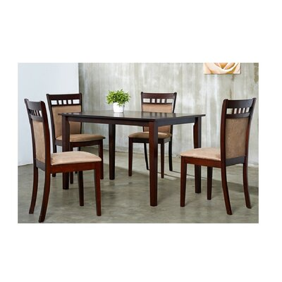 Shirlyn 5 Piece Dining Set Chair Finish: Brown