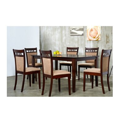 Shirlyn 7 Piece Dining Set Chair Finish: Sugar Brown