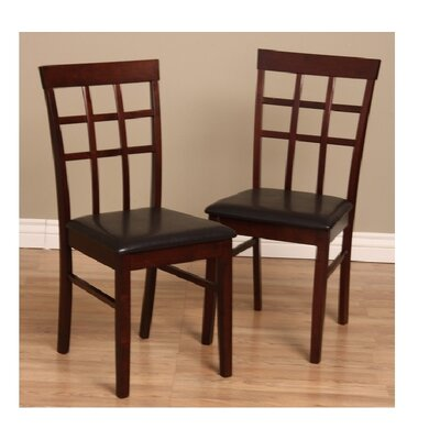 Tiffany Justin Side Chair Finish: Dark Brown