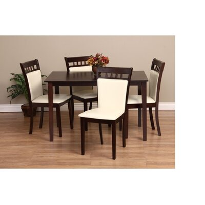 Shirlyn 5 Piece Dining Set Chair Finish: Chalk