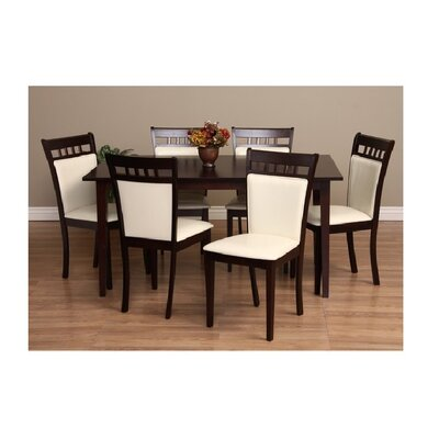 Shirlyn 7 Piece Dining Set Chair Finish: Chalk
