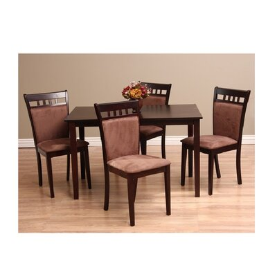 Shirlyn 5 Piece Dining Set Chair Finish: Sugar Brown