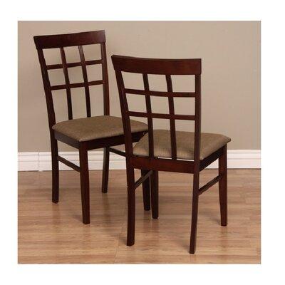 Tiffany Justin Side Chair Finish: Latte