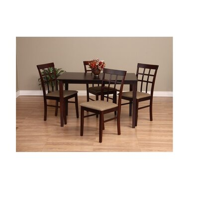 Justin 5 Piece Dining Set Chair Finish: Latte