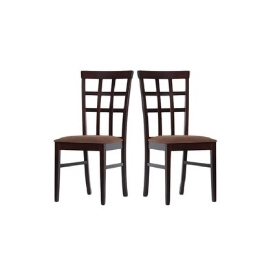 Tiffany Justin Side Chair Finish: Sugar Brown