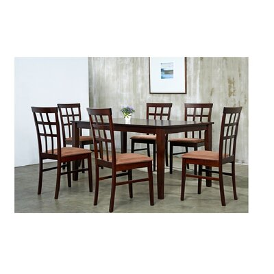 Justin 7 Piece Dining Set Chair Finish: Sugar Brown