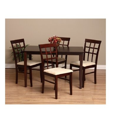 Justin 5 Piece Dining Set Chair Finish: Sand