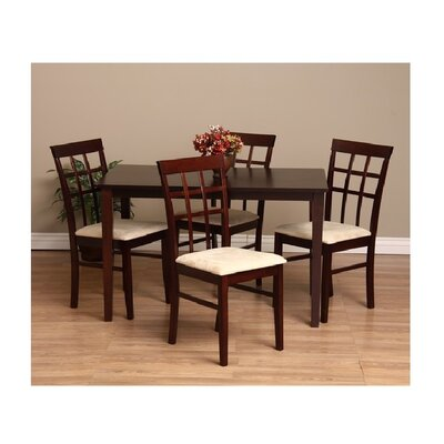 Justin 7 Piece Dining Set Chair Finish: Sand