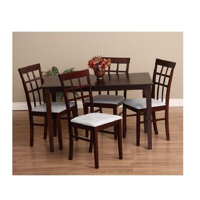 Justin 5 Piece Dining Set Chair Finish: Grey