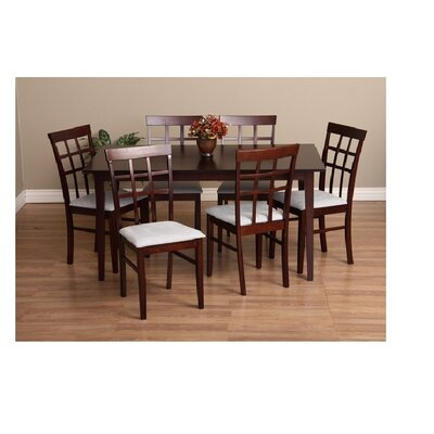 Justin 7 Piece Dining Set Chair Finish: Grey
