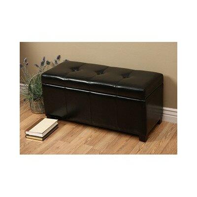Ariel Upholstered Storage Bedroom Bench Color: Black