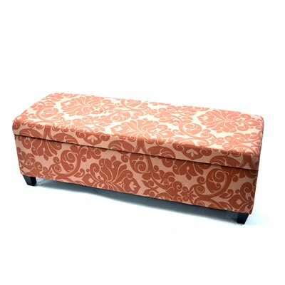 Donahue Upholstered Storage Ottoman Upholstery: Burgundy