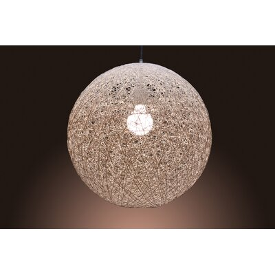 String Bounded 1-Light Globe Pendant
