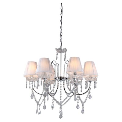 Eros 6-Light Crystal Chandelier