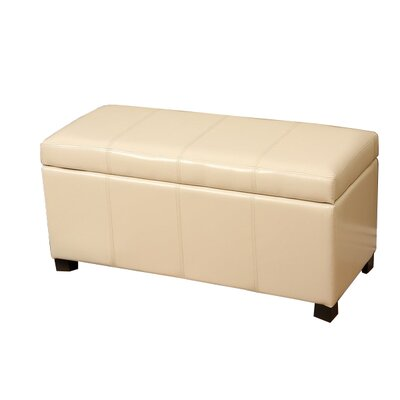 Donahue Storage Ottoman Upholstery: Beige