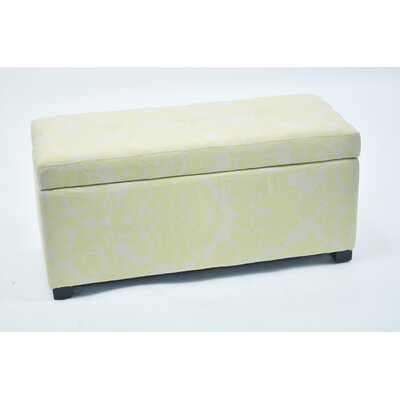 Donahue Storage Ottoman with Button Upholstery: Beige