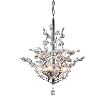Anastasia Leaf 9-Light Crystal Chandelier