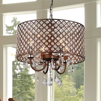 Alexia 4-Light Crystal Chandelier