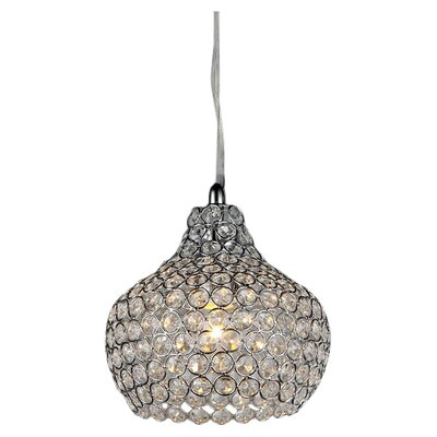 Kiss 1-Light Crystal Pendant