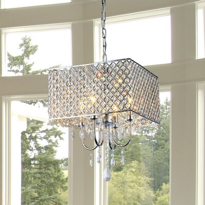 Garrin Square 4-Light Crystal Chandelier