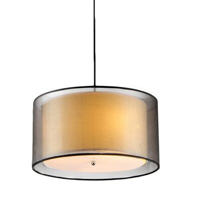 Candide 3-Light Semi Flush Mount