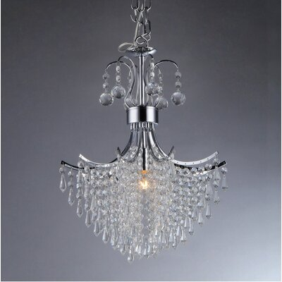 Mokume 3-Light Crystal Chandelier