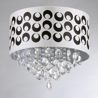 Tiffany 4-Light Drum Chandelier