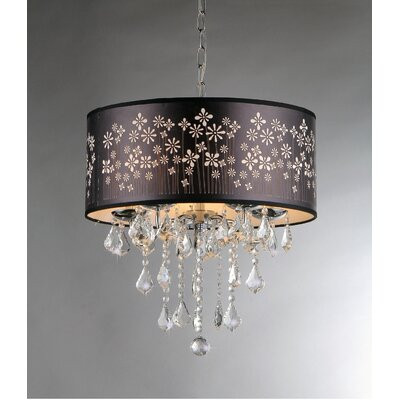 Floral 5-Light Drum Chandelier