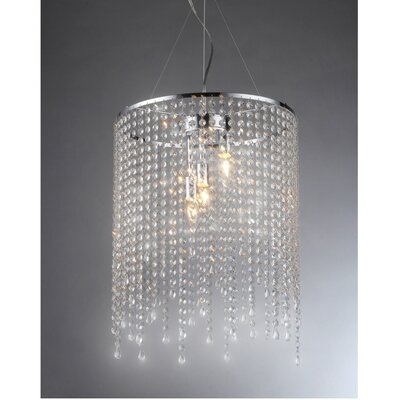 Falls 3-Light Crystal Chandelier