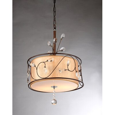 Amelia 3-Light Drum Chandelier