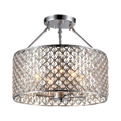 Geffrey Crystal Semi Flush Mount