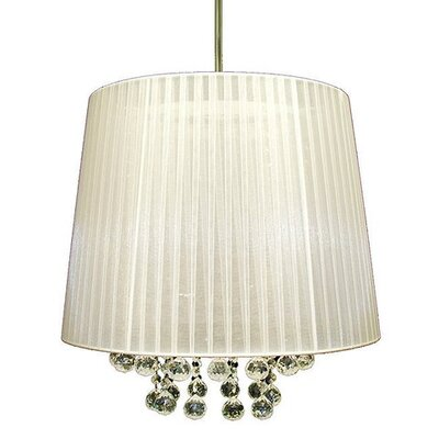 3-Light Drum Pendant Shade Color: White