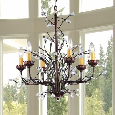 Kinsley 6-Light Crystal Chandelier