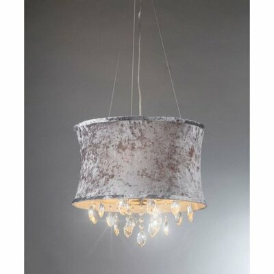Chloe 3-Light Drum Chandelier